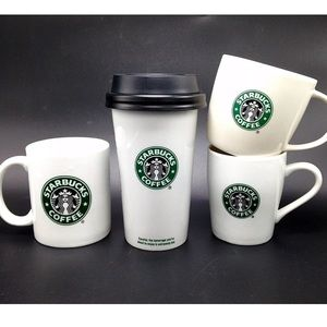 Starbucks 4 Classic Siren Coffee Tumbler & Mugs